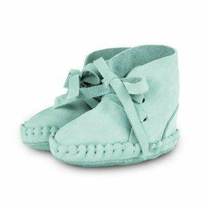 Donsje Amsterdam Pina Nubuck Azure Leather Shoes D